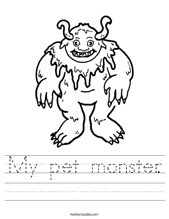 My pet monster. Worksheet