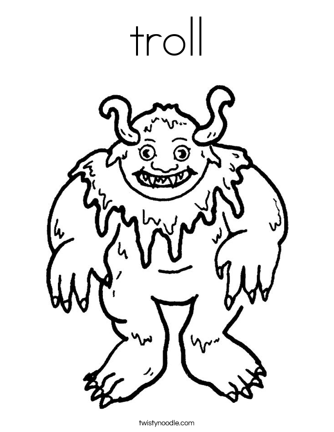 Colouring Pages For Trolls : Troll coloring page twisty noodle