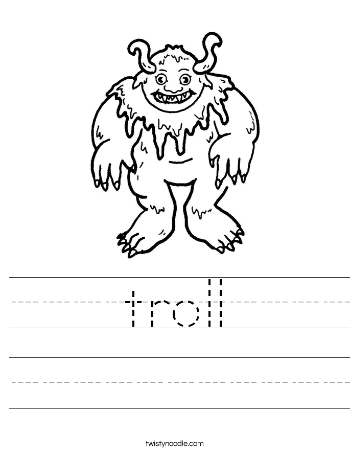 troll Worksheet