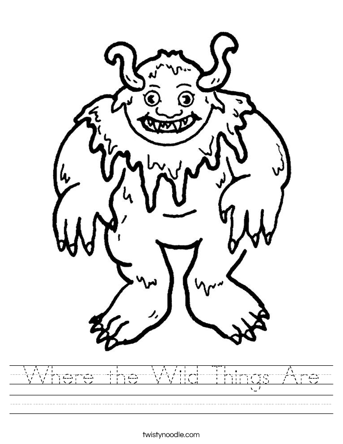 English teaching worksheets: Where the wild things are | Wild ...