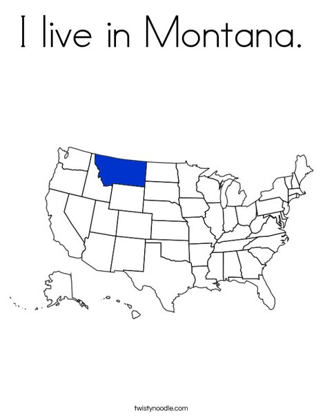 Montana Coloring Page
