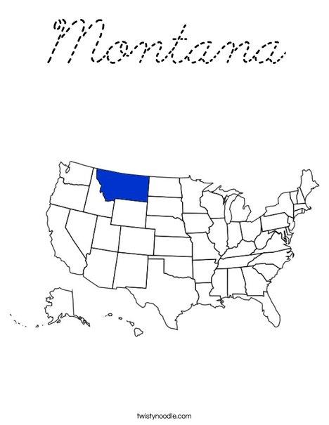 Montana Coloring Page