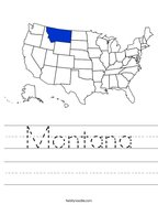 Montana Handwriting Sheet