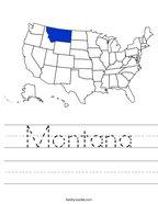Montana Handwriting Sheet