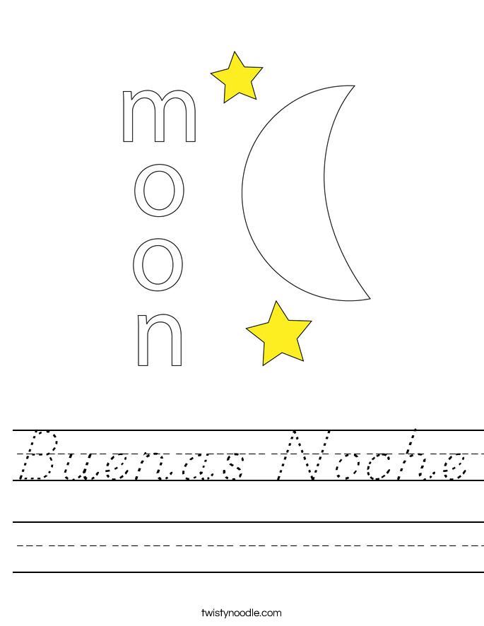 Buenas Noche Worksheet