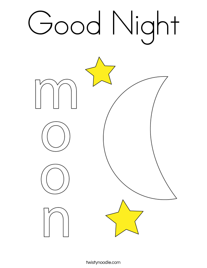 Good Night Coloring Page