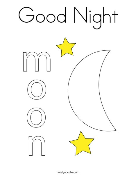 printable goodnight moon coloring pages - photo#27