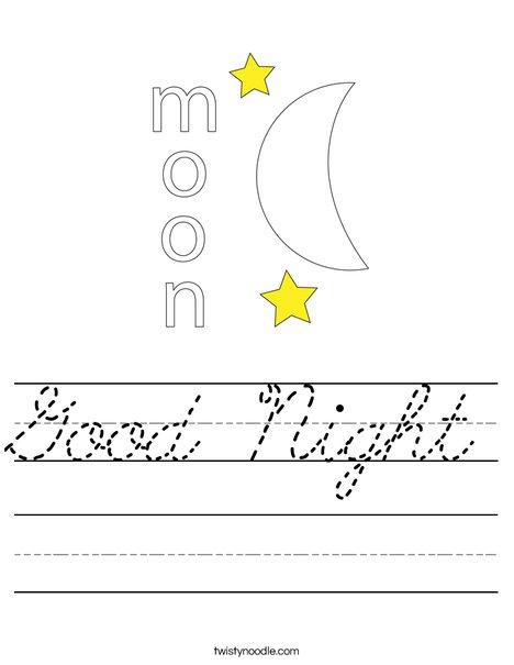 Moon Worksheet