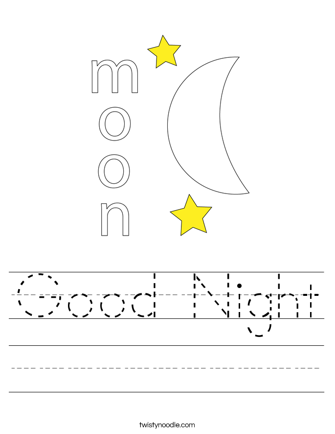 Good Night Worksheet