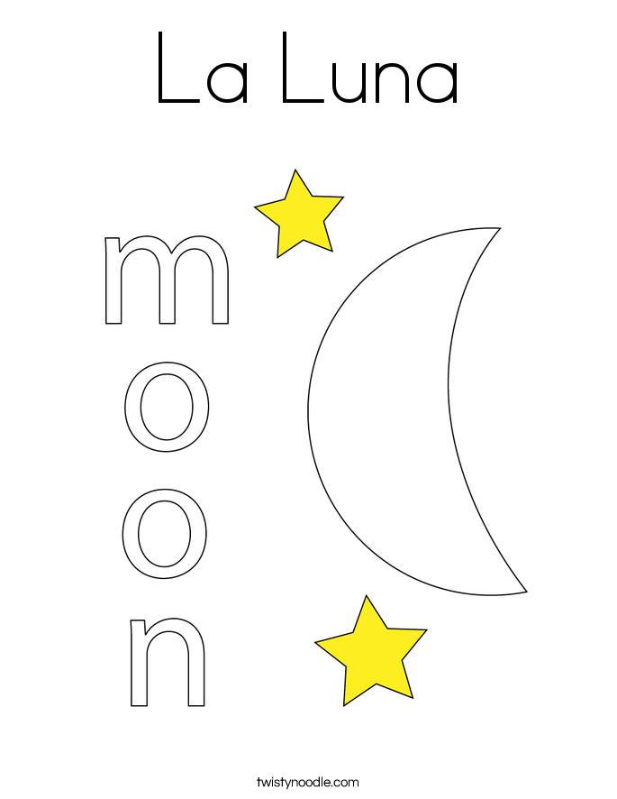 La Luna Coloring Page