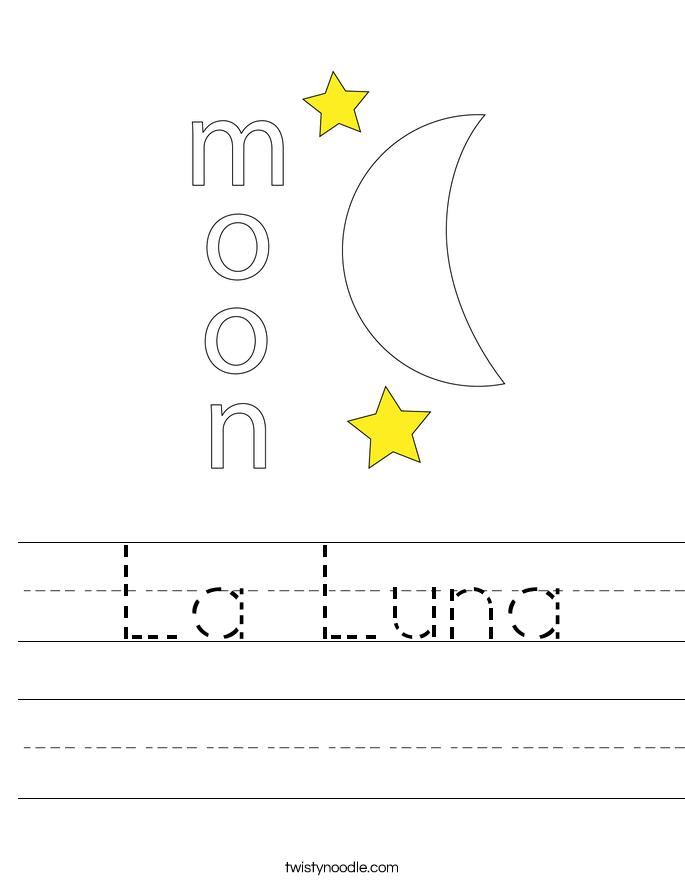 La Luna Worksheet