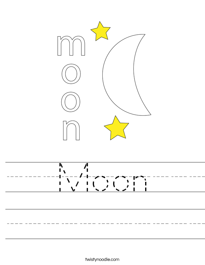 coloring pages moon phases - moon worksheet twisty noodle
