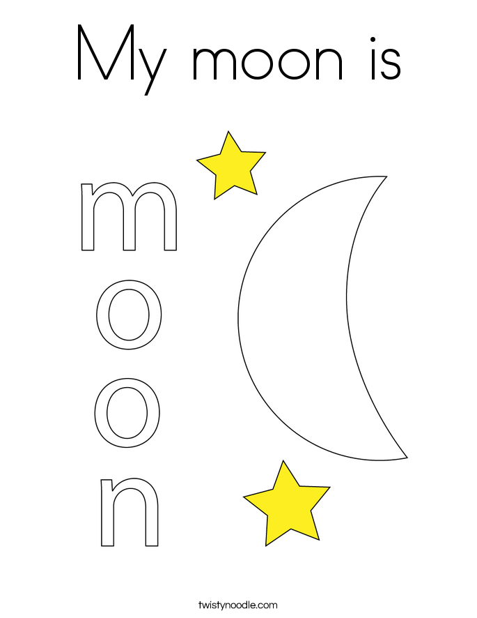 My moon is Coloring Page