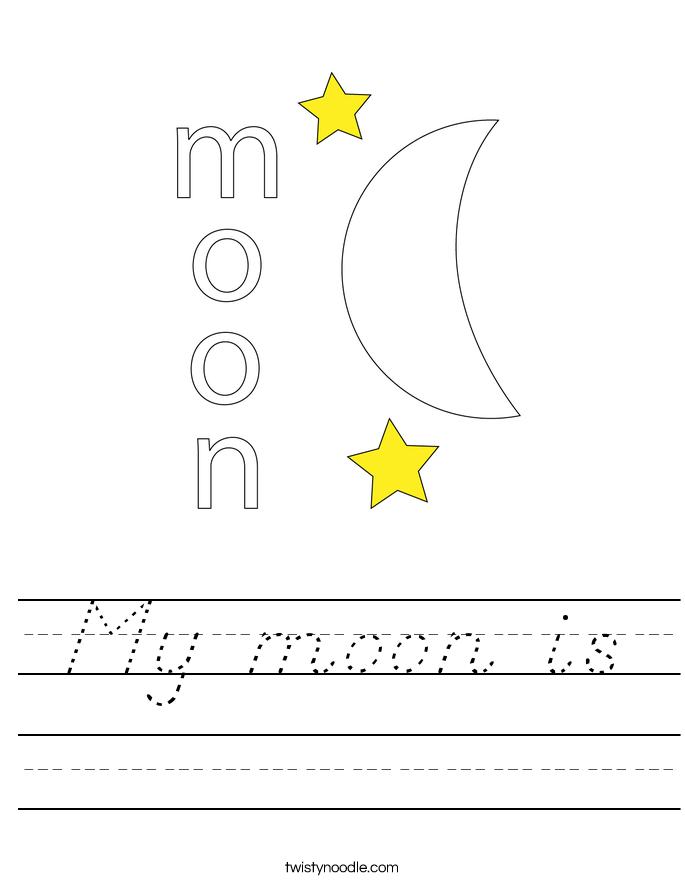 My moon is Worksheet