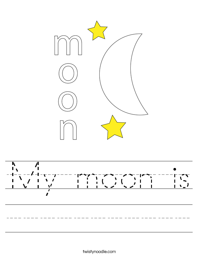 My moon is Worksheet