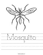 Mosquito Handwriting Sheet
