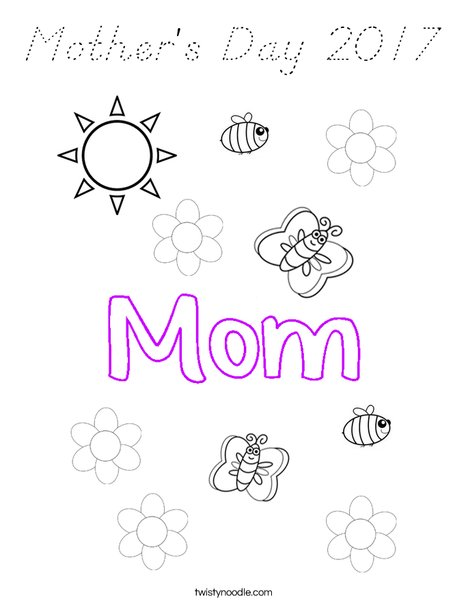 Mother's Day 2016 Coloring Page