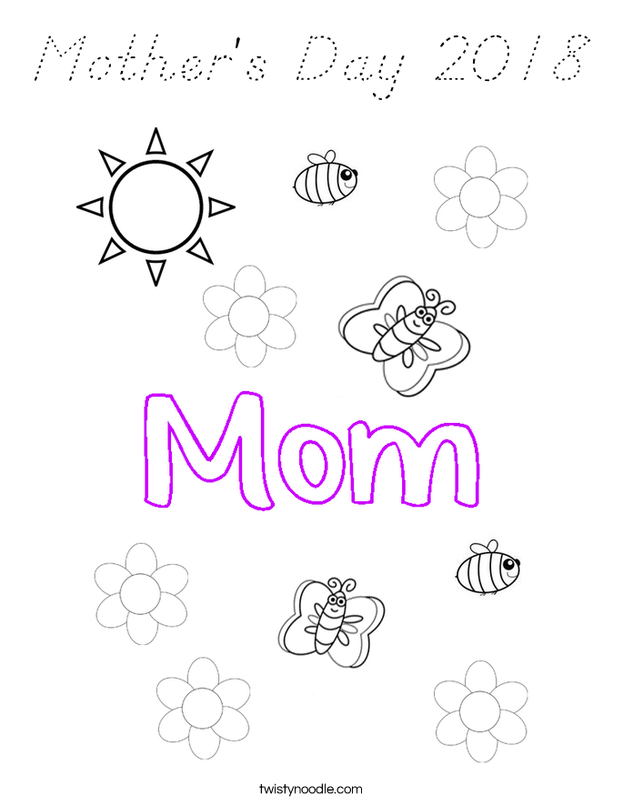 Mother's Day 2018 Coloring Page