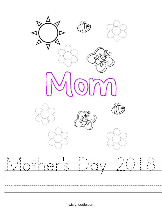 Mother's Day 2018 Worksheet