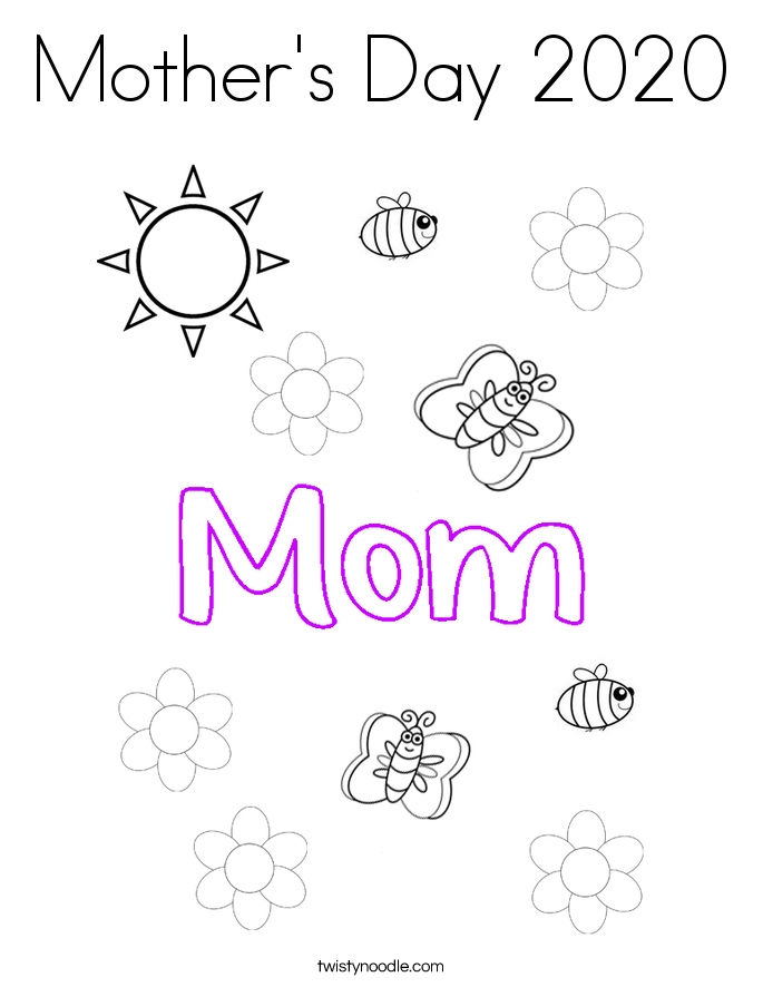 Mother's Day 2020 Coloring Page