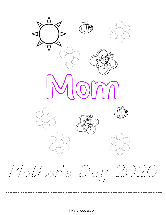 Mother's Day 2020 Worksheet