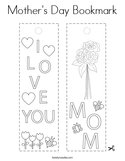 Mother's Day Bookmark Coloring Page