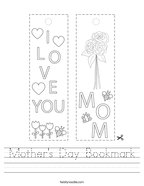 Mother's Day Bookmark Handwriting Sheet