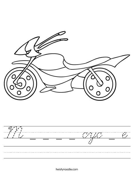 Motorcycle Worksheet