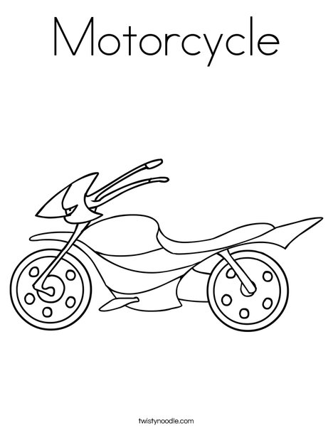 Motorcycle Coloring Page