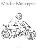M is for MotorcycleColoring Page