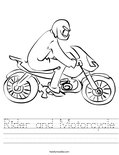 Rider and Motorcycle Worksheet