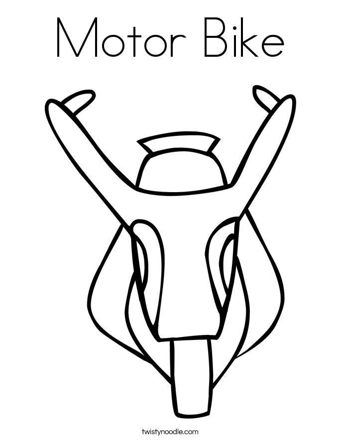 Motor Bike Coloring Page
