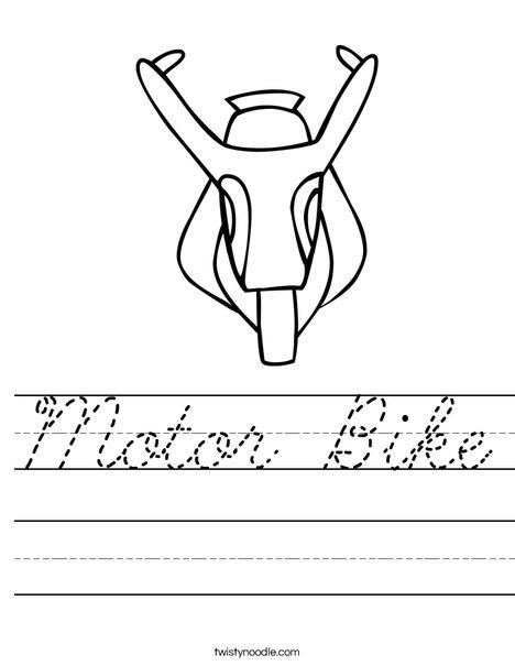 Motor Bike Worksheet