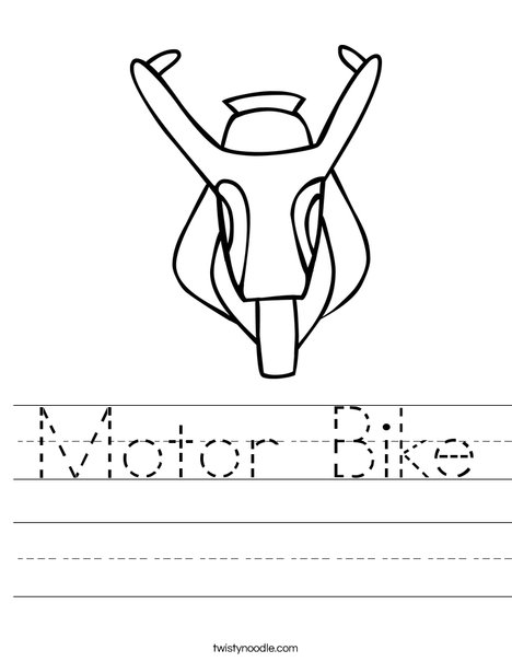 Motor Bike Worksheet
