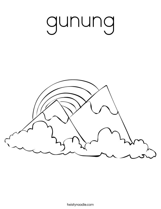 gunung Coloring Page
