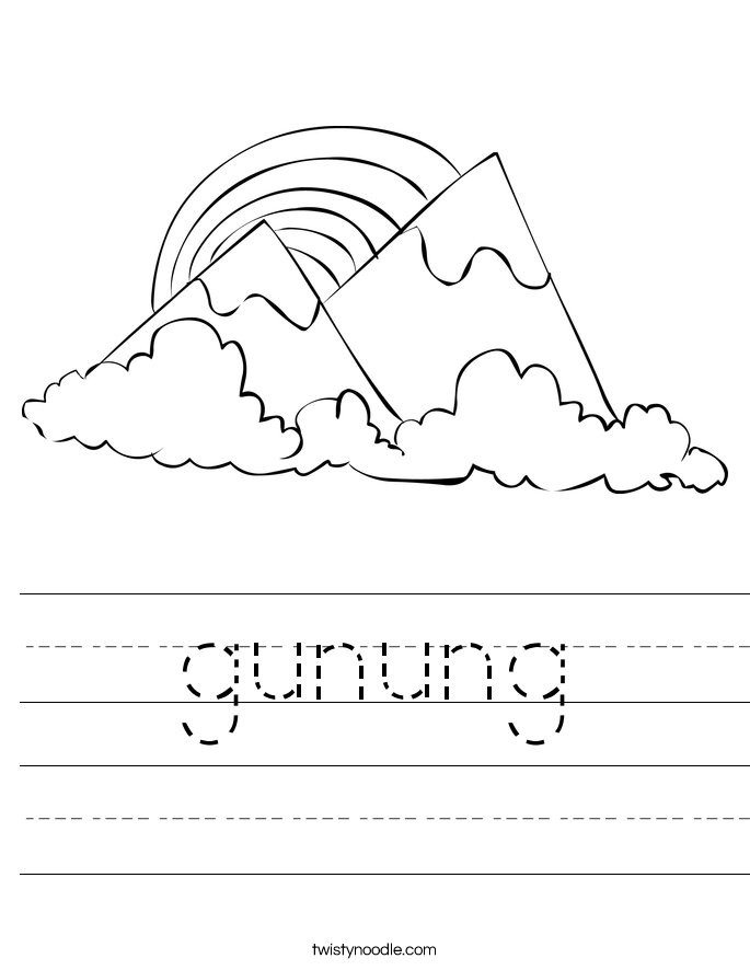 gunung Worksheet