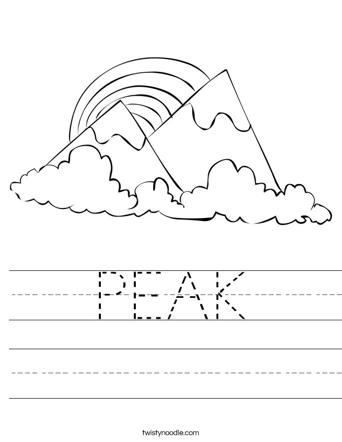 PEAK Worksheet
