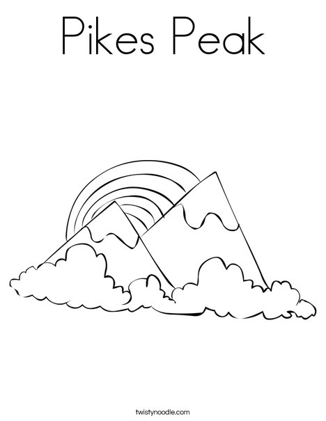 Pikes Peak Coloring Page Twisty Noodle