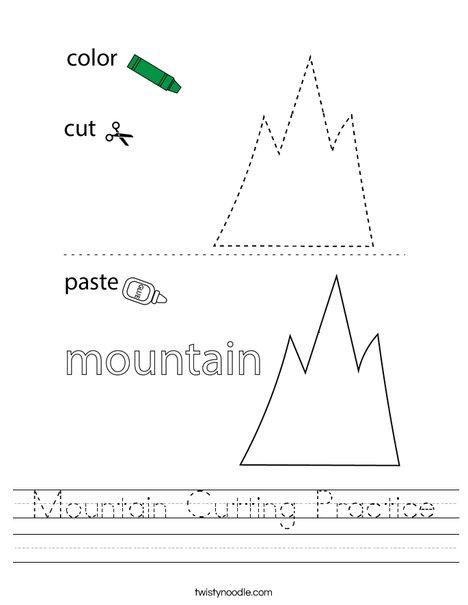 Mountain Cutting Practice Worksheet