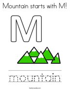 Mountain starts with M Coloring Page