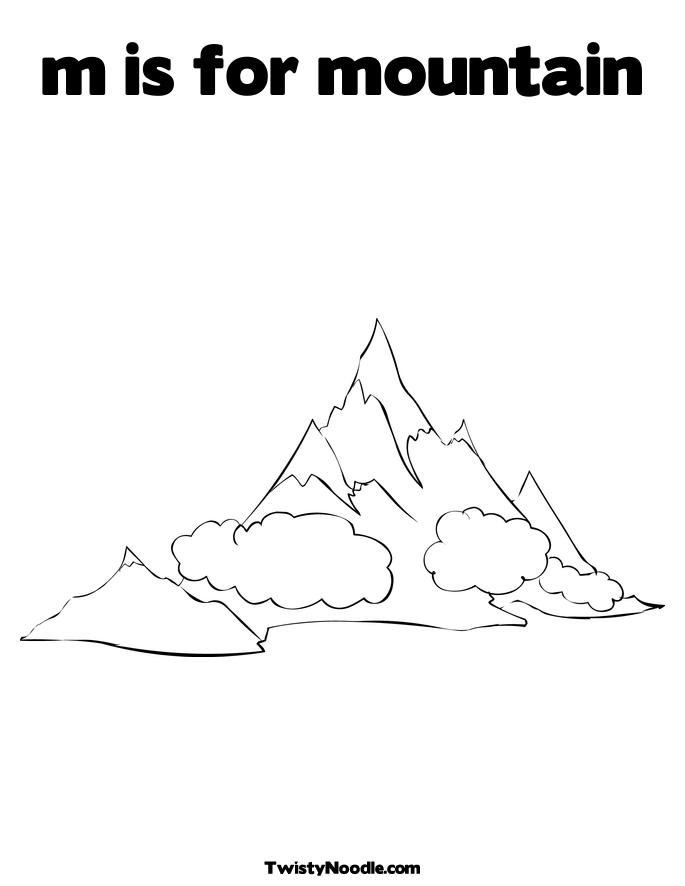 free mountain landscape coloring pages-#27