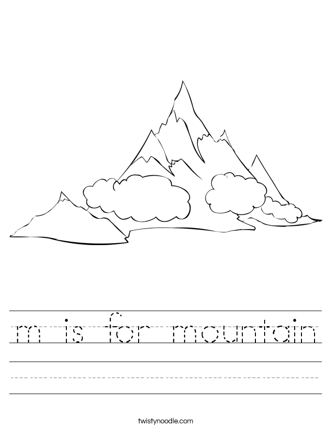 M Is For Mountain Worksheet Twisty Noodle