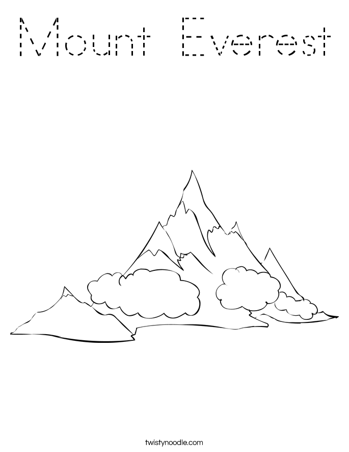 Mount Everest Coloring Page