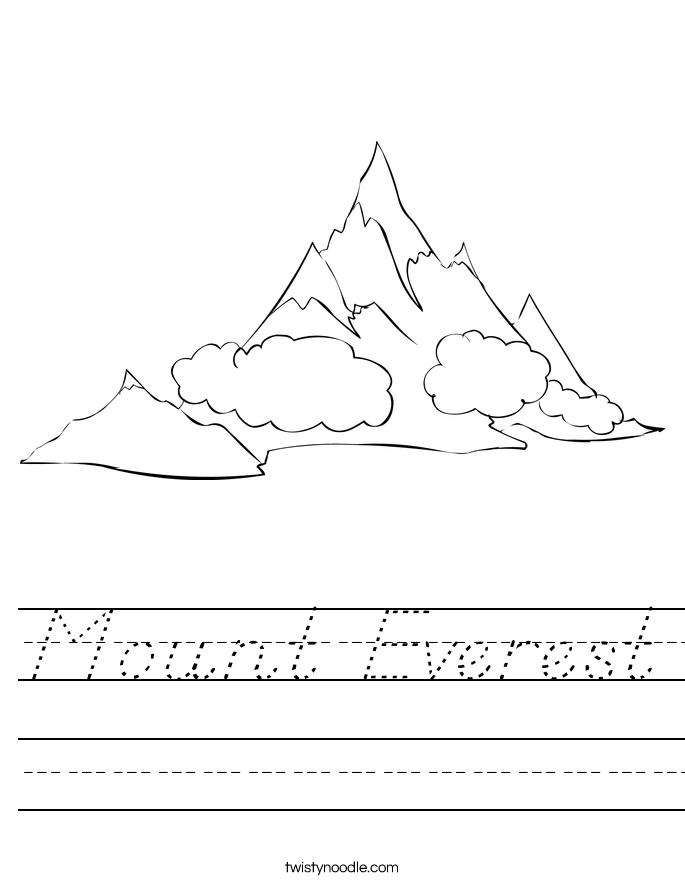 Mount Everest Worksheet