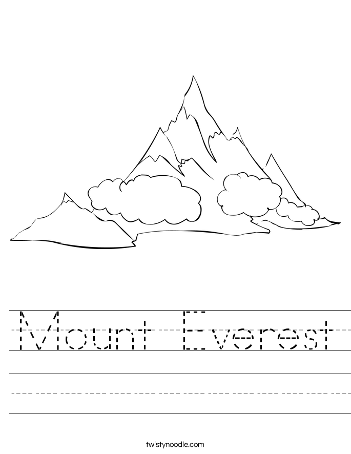 Mount Everest Worksheet