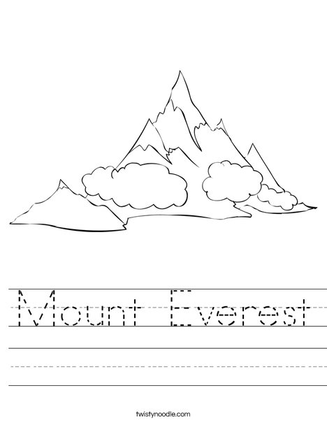 Mountain Worksheet