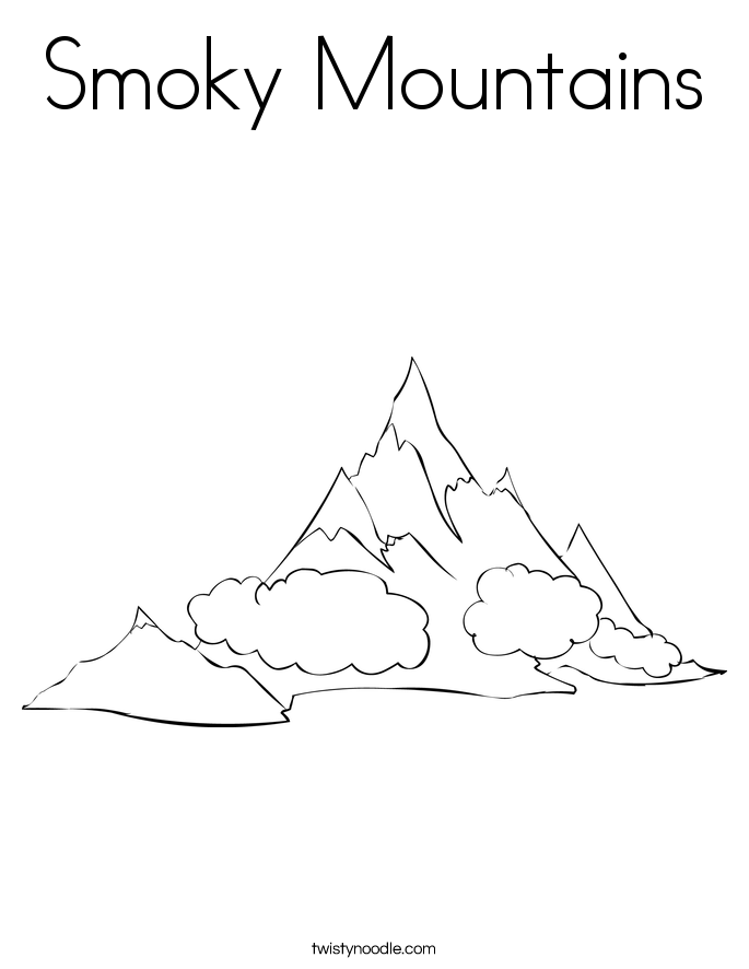 Smoky Mountains Coloring Page