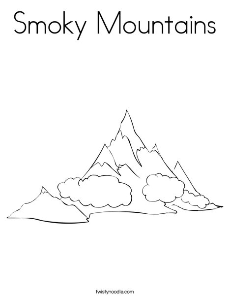 Smoky Mountains Coloring Page - Twisty Noodle