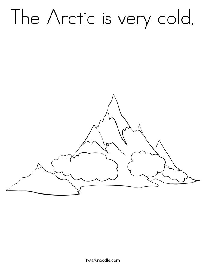 The Arctic is very cold. Coloring Page