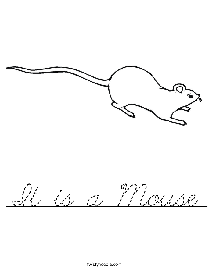 It is a Mouse Worksheet